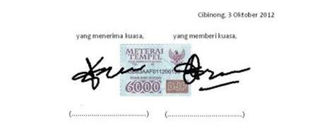 kumpulan contoh surat kuasa lengkap pengambilan uang