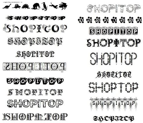 tattoo fonts with designs fonts style design a