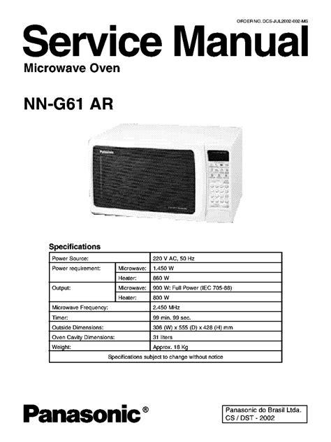 Daftar Microwave Oven Panasonic panasonic microwave inverter repair see typical