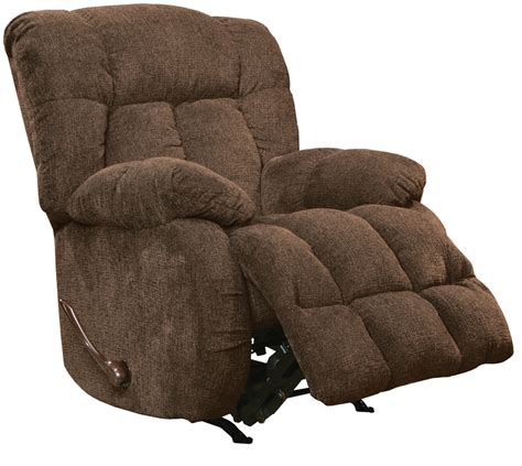 catnapper chaise lounge laredo chaise rocker recliner in chocolate fabric by