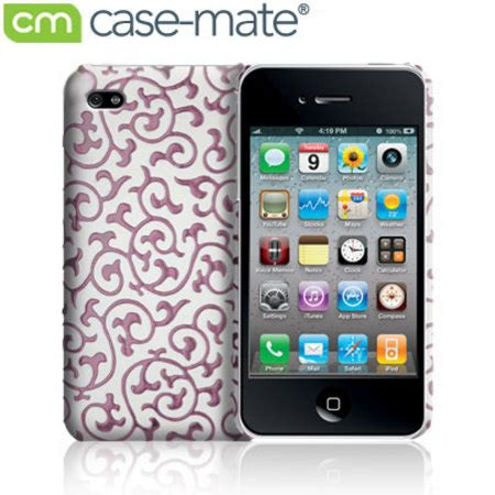 Casing Iphone 2 mate iphone 4 white pink
