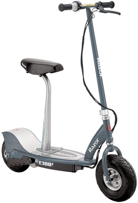 razor e300s seated electric scooter grey electric