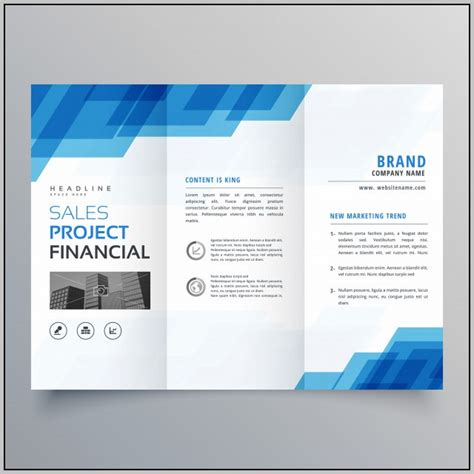 tri fold brochure template psd free download template