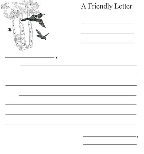 Letter Writing Pdf 2018 friendly letter format fillable printable pdf