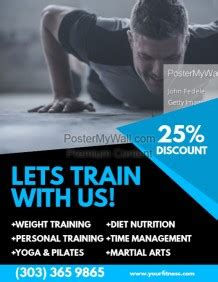 cover page for business fitness poster templates postermywall
