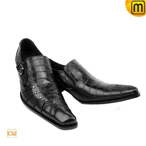italian mens leather dress shoes black cw701105