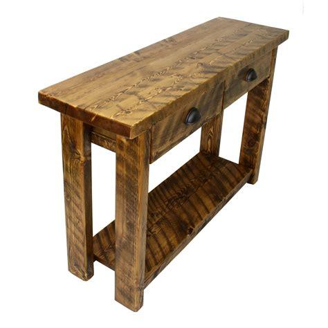 rustic entryway table  drawers  corner furniture