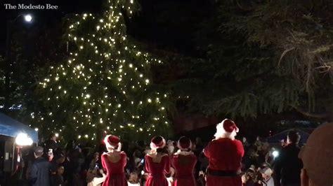 turlock lights its christmas tree youtube