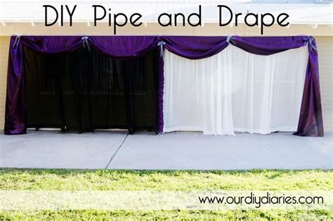 how to make pipe and drape diy pipe and drape i really like the purple with white
