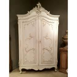 Shabby Chic Armoire Delphine Distressed White Armoire Bedroom