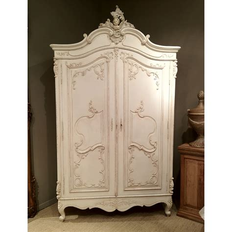delphine distressed white french armoire french bedroom company