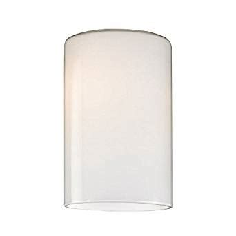 cylinder opal white glass shade lipless with 1 5 8 inch