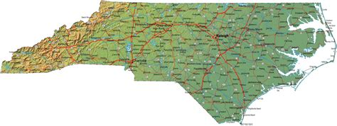 printable nc road map printable map of a number of full page north carolina maps