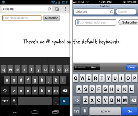 software keyboard layout iphone make it easier for users to complete your html forms on