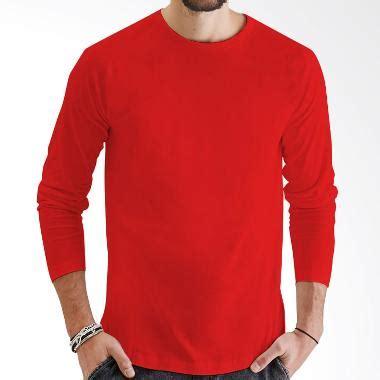 Kaos Polo Nike Vw Terpopuler jual kaosyes kaos polos t shirt o neck lengan panjang merah harga kualitas terjamin