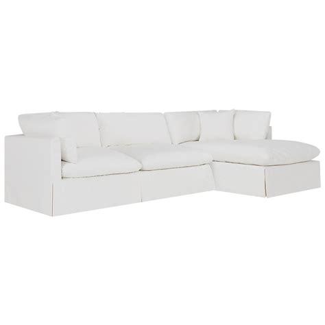 white fabric sectional city furniture raegan white fabric right chaise sectional