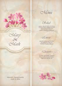 Menu Templates For Weddings by 27 Wedding Menu Templates Free Sle Exle Format
