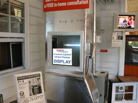 Home Depot Bluffton by American Lights Uv Air Cleaner Home Depot Display