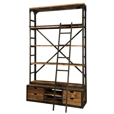 libreria con scala libreria industrial con scala librerie legno e ferro