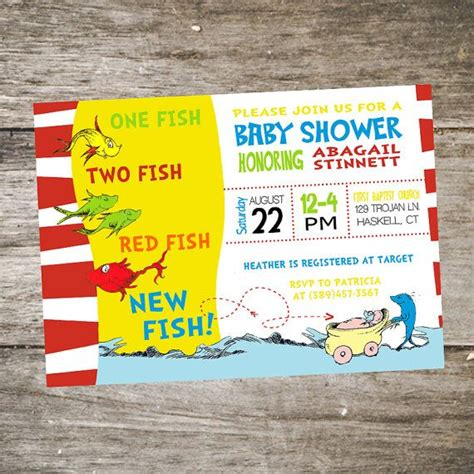 Dr Seuss Themed Baby Shower Invitations by Printable Dr Seuss Baby Shower Invitations For One Baby