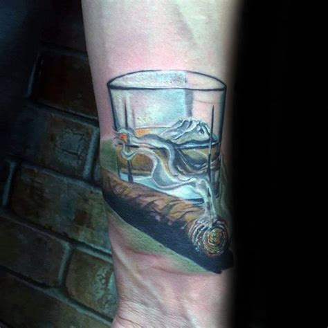 cigar tattoo 60 designs for whiskey ink ideas