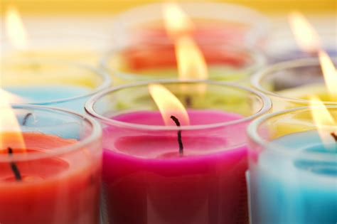 colored candles the soy ful light of the