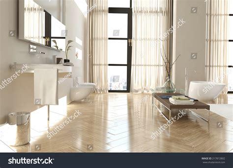 upmarket bathrooms modern upmarket bathroom interior herringbone floor stock