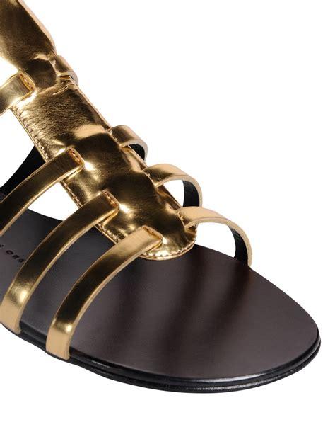 giuseppe zanotti gold sandals giuseppe zanotti sandals in gold lyst