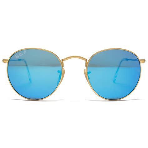 Rayban Mirror List Hitam ban metal sunglasses in matte gold blue polarised mirror rb3447 112 4l 50