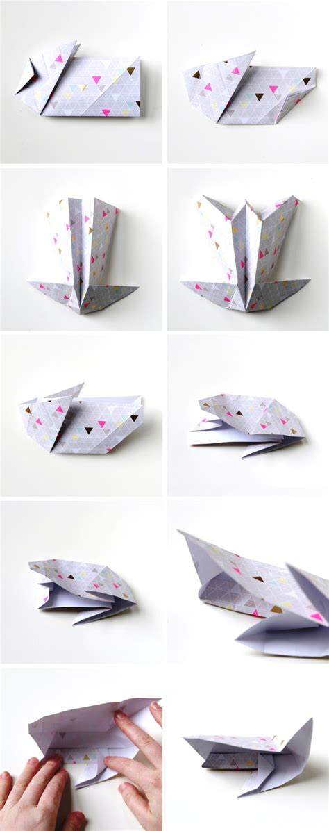 Origami Easter Bunny Basket - diy origami easter bunny baskets gathering