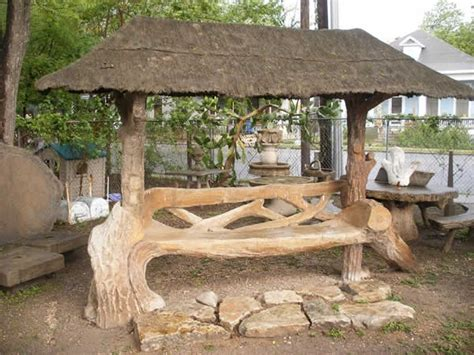 covered garden bench 484 best fabulous faux bois images on