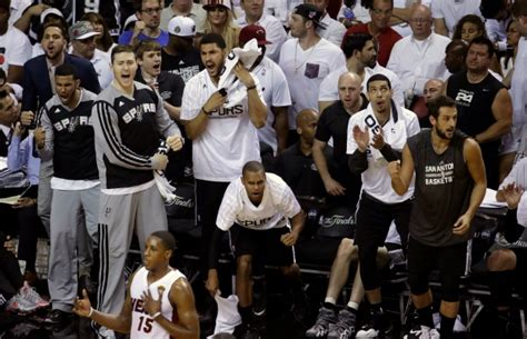 san antonio spurs bench players spurs beat heat 107 86 to take 3 1 lead in nba finals