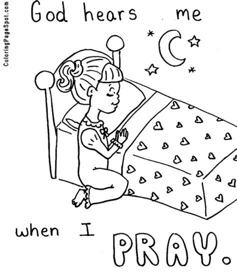 Praying Hands Printable Clip Art Girl Praying Coloring Children Praying Coloring Page