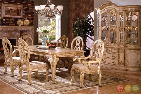 tuscany dining room furniture tuscany plush upholstered dining room set with 16 inch leaf
