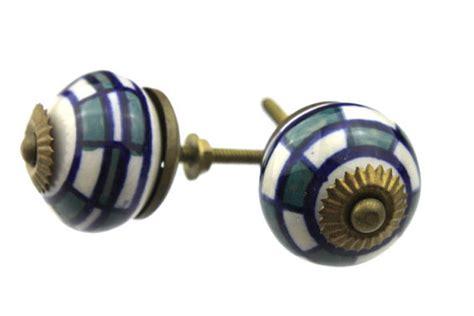 Vintage Ceramic Door Knobs by Vintage Ceramic Door Knobs Set Of Two Blue By