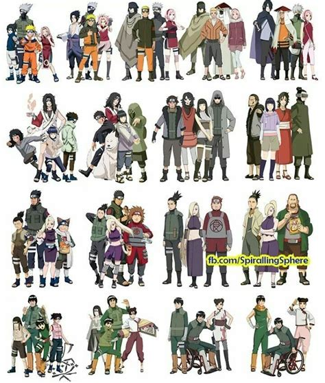 the teams over the years anime pinterest naruto