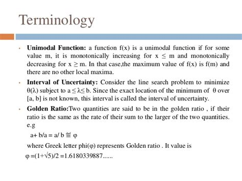 golden section search method golden section method