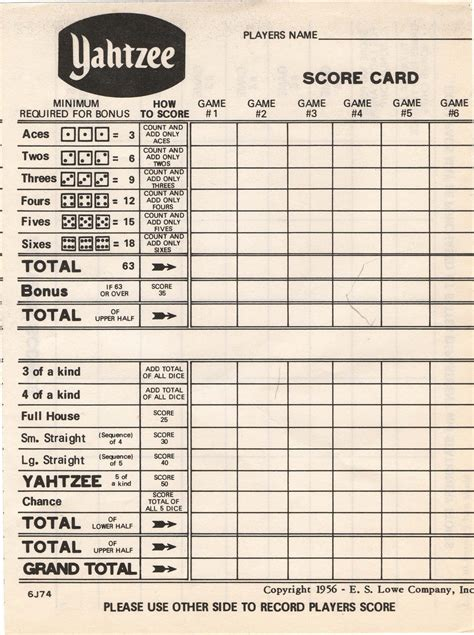 print a yahtzee score sheet search results for blank yahtzee score sheet printable