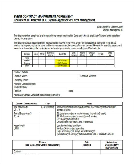 Event Management Agreement Template by 58 Management Agreement Exles And Sles