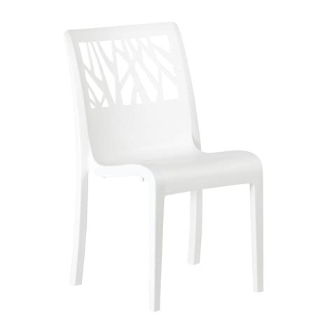 chaise blanc chaise vegetal blanc glacier