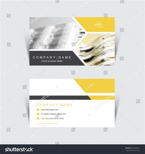 stationery business card templates business card print template design vector stock vector