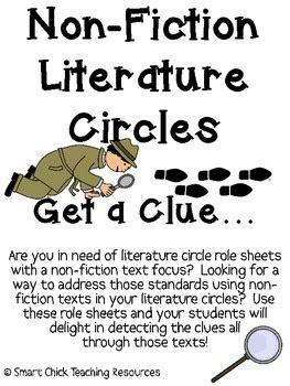theme literature circle non fiction literature circles packet get a clue