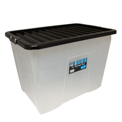 storage box large storage box with lid 80l