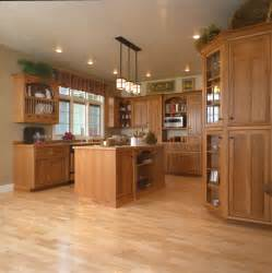 craftsman style kitchen hickory wood cabinets craftsman