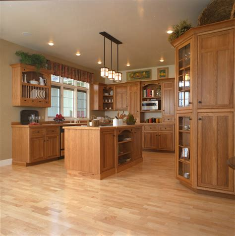 craftsman style kitchen cabinets craftsman style kitchen hickory wood cabinets craftsman