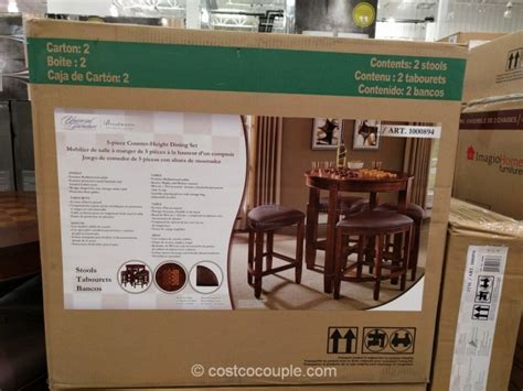 universal furniture  piece counter height dining set