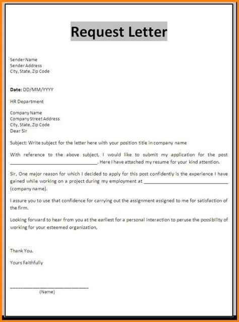 request letter format 7 a formal letter of request appeal leter