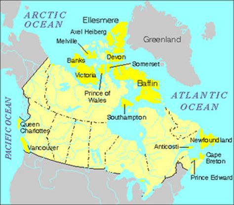 map of canada with islands banks island the canadian encyclopedia