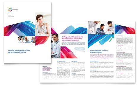 pdf flyer template software solutions brochure template design