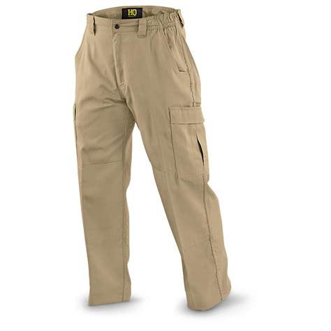 Hq 17529 Overall Trousers Black khaki cargo pi